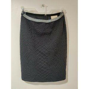 Anthropologie Moulinette Soeurs Skirt Black Silver